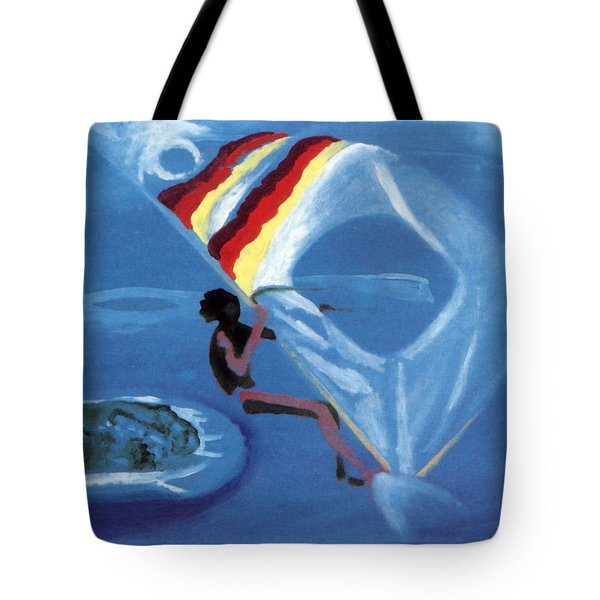 Flying Windsurfer Tote Bag