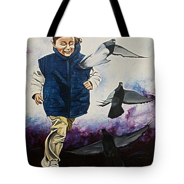 Flying With The Birds - Volar Con Las Aves Tote Bag