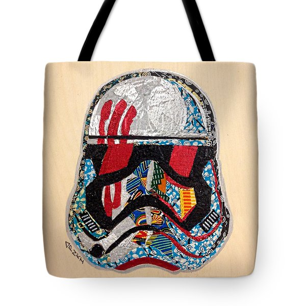 Storm Trooper Fn-2187 Helmet Star Wars Awakens Afrofuturist Collection Tote Bag