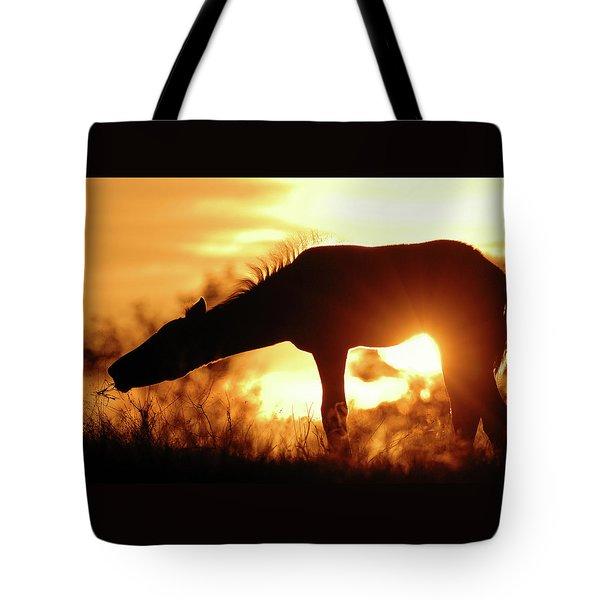 Foal Silhouette Tote Bag