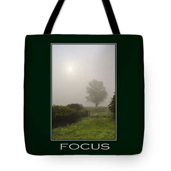 Focus Inspirational Poster Art Tote Bag by Christina Rollo