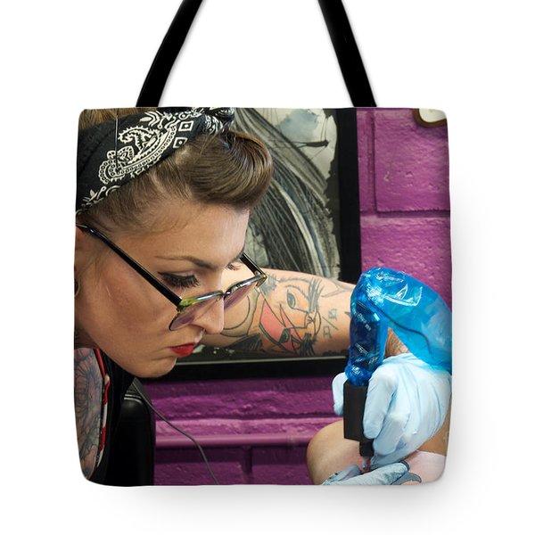 Focused Tote Bag by Vinnie Oakes