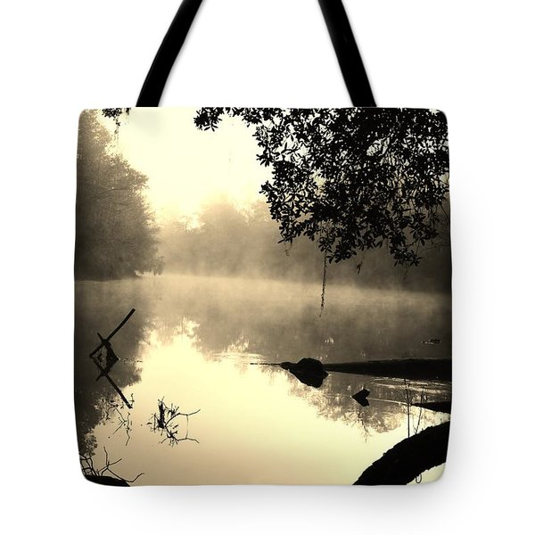 Fog And Light In Sepia Tote Bag