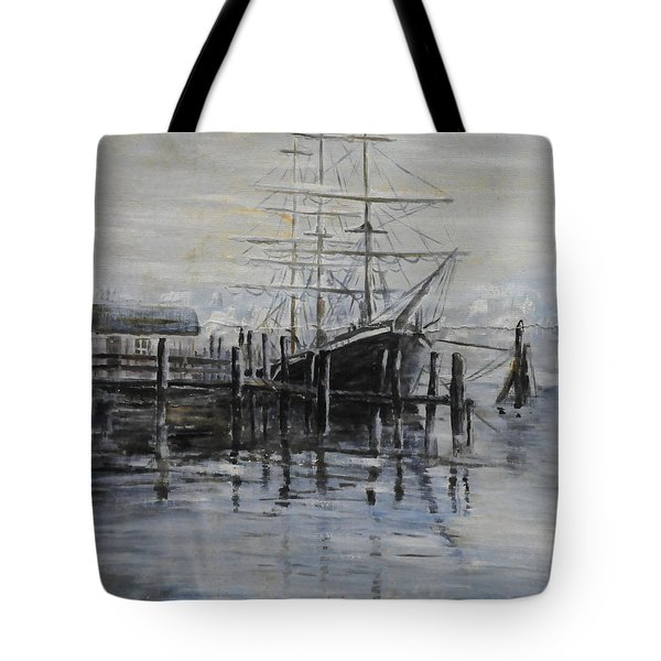 Fog Bound At Tillamok Tote Bag