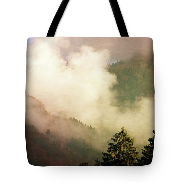 Fog Competes With Sun Tote Bag