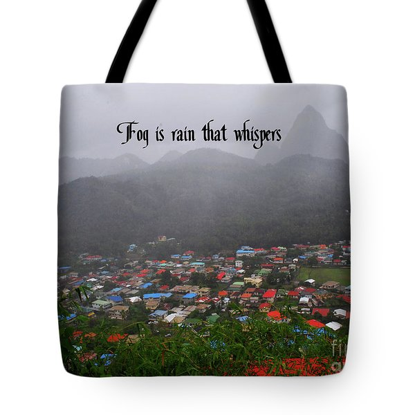 Tote Bag featuring the photograph Fog by Gary Wonning