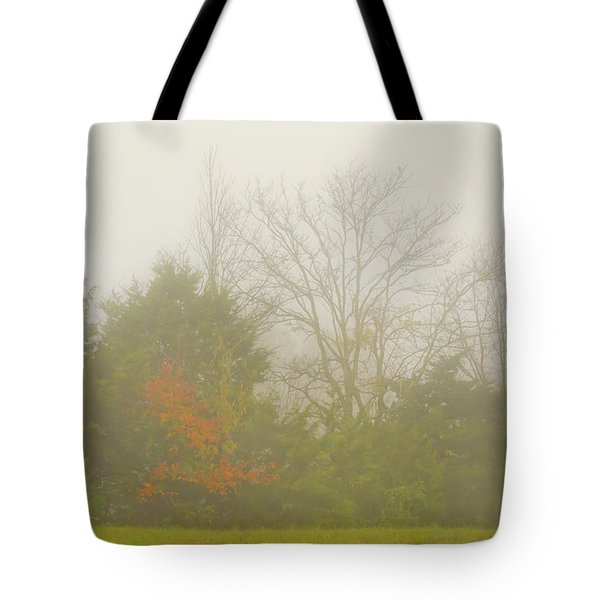 Fog In Autumn Tote Bag