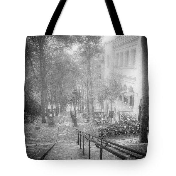 Fog In Montmartre Tote Bag