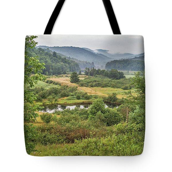 Tote Bag featuring the photograph Fog In The Adirondacks by Sue Smith