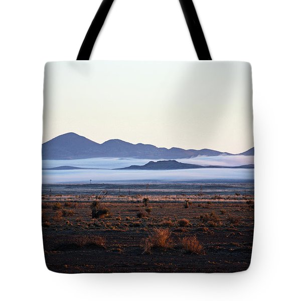 Fog In The Peloncillo Mountains Tote Bag