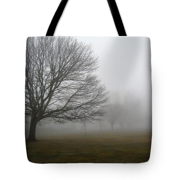 Tote Bag featuring the photograph Fog by John Scates