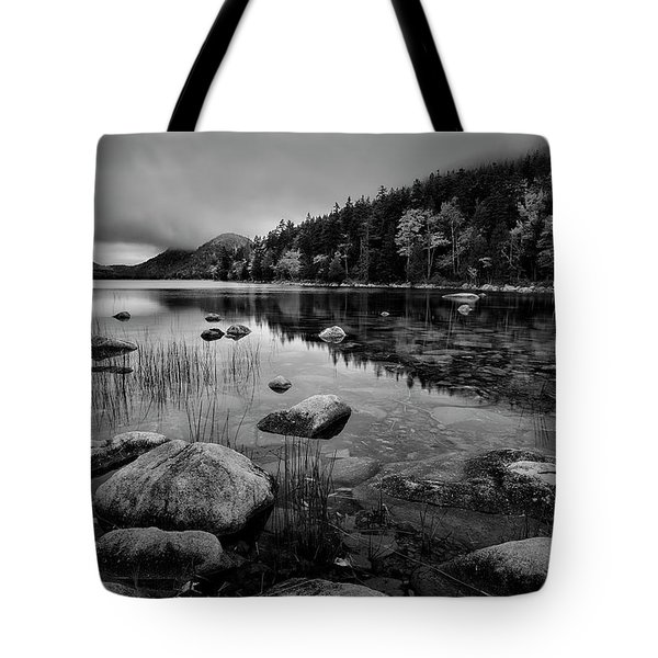 Fog On Bubble Pond Tote Bag