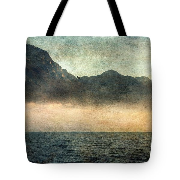 Fog On Garda Lake Tote Bag