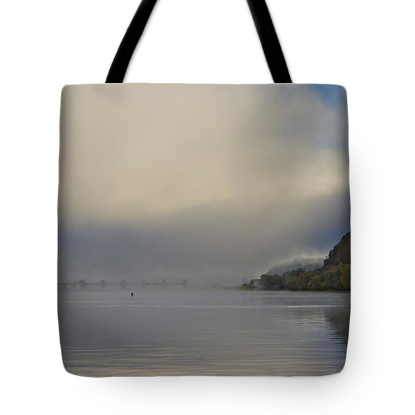 Fog On Mississippi River Tote Bag by Garry McMichael