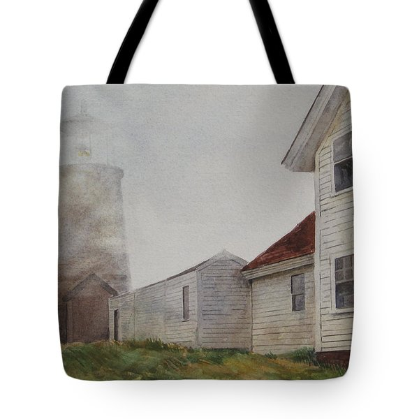 Fog On Monhegan Tote Bag