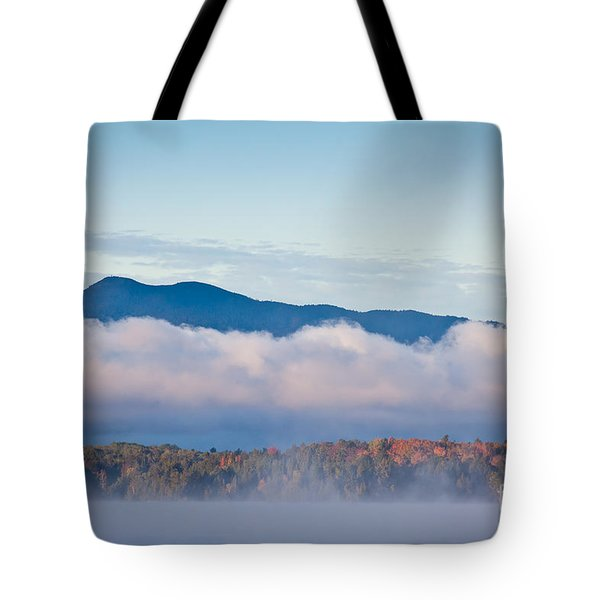 Fog On Moosehead Lake Tote Bag