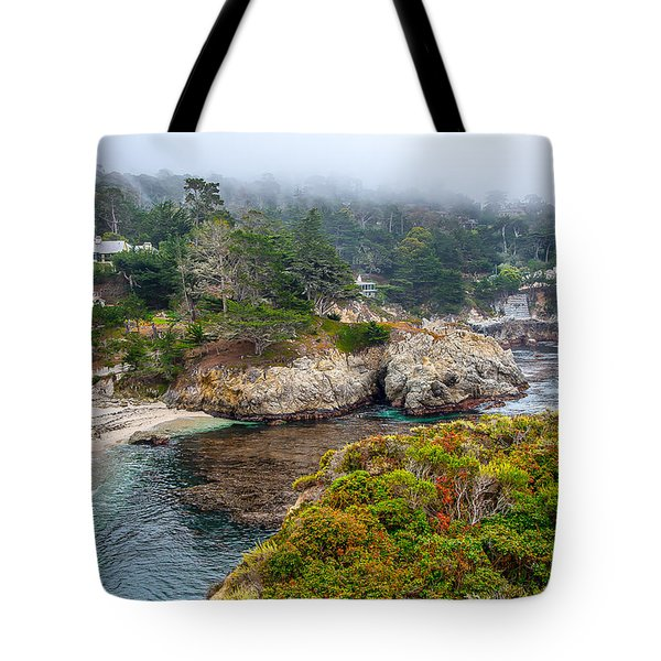 Fog On The Beach Tote Bag