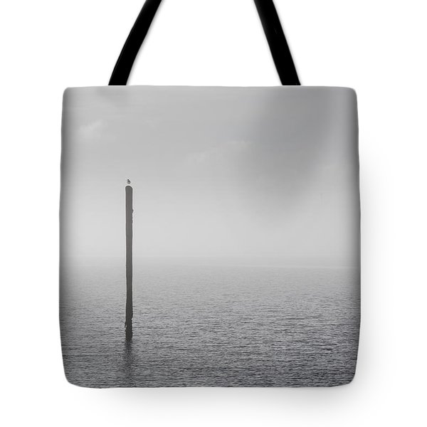 Fog On The Cape Fear River On Christmas Day 2015 Tote Bag