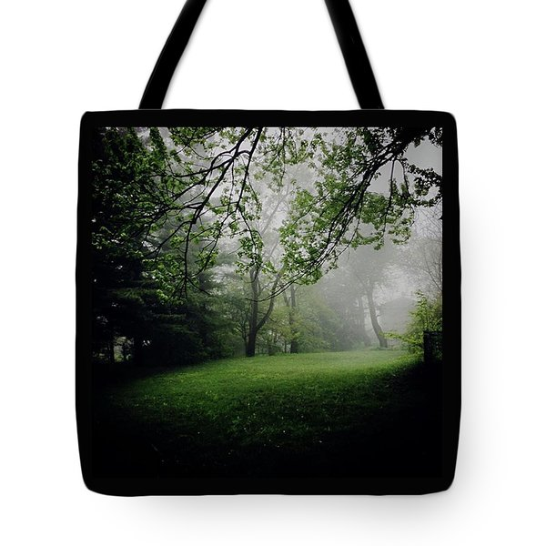 Fog On The Green Tote Bag