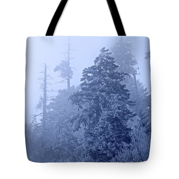 Tote Bag featuring the photograph Fog On The Mountain by John Stephens