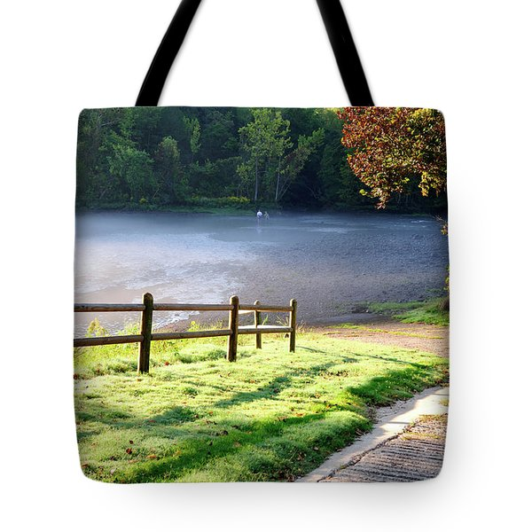 Fog On The River Tote Bag by Betty LaRue