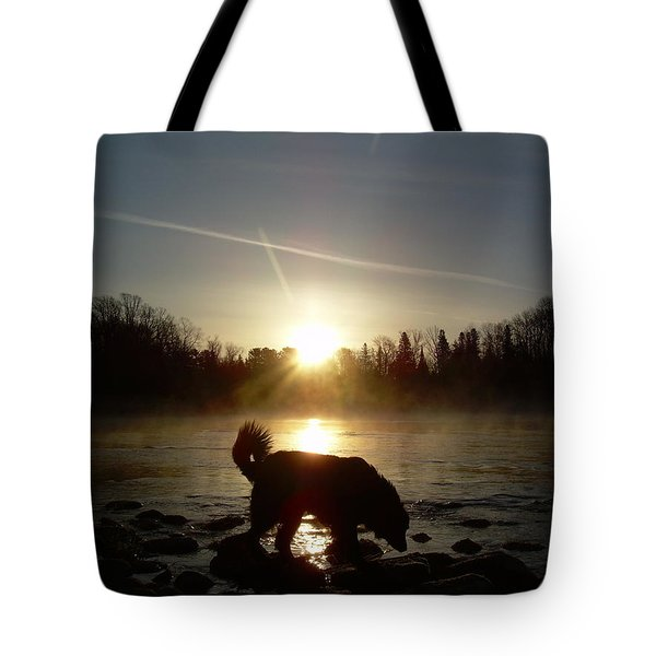 Tote Bag featuring the photograph Fog Over Mississippi River by Kent Lorentzen