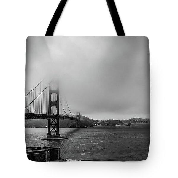 Fog Over The Golden Gate Bridge Tote Bag