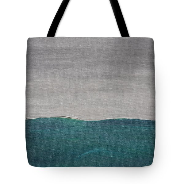 Fog Over The Ocean Tote Bag