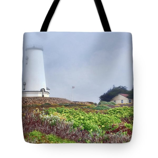 Tote Bag featuring the photograph Fog - Piedras Blancas by Nikolyn McDonald