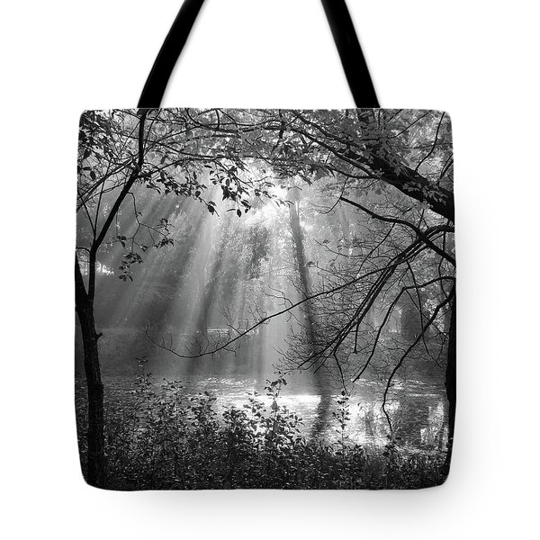 Fog Rays Tote Bag by Betsy Zimmerli