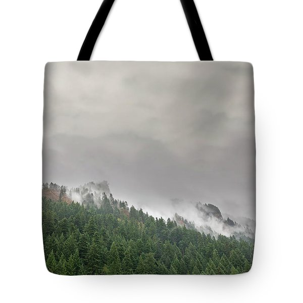 Fog Rolling Over Columbia River Gorge Tote Bag
