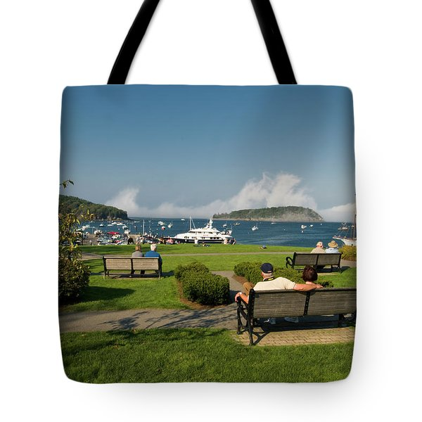 Fog Show Over The Porcupine Islands Tote Bag
