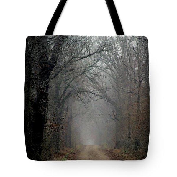 Fog Shrouded Lane  7861 Dp_2 Tote Bag
