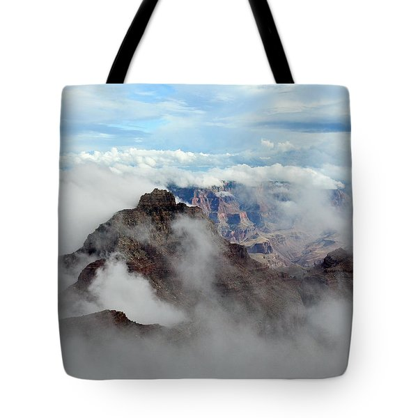 Fog Shrouded Vishnu Temple  Tote Bag