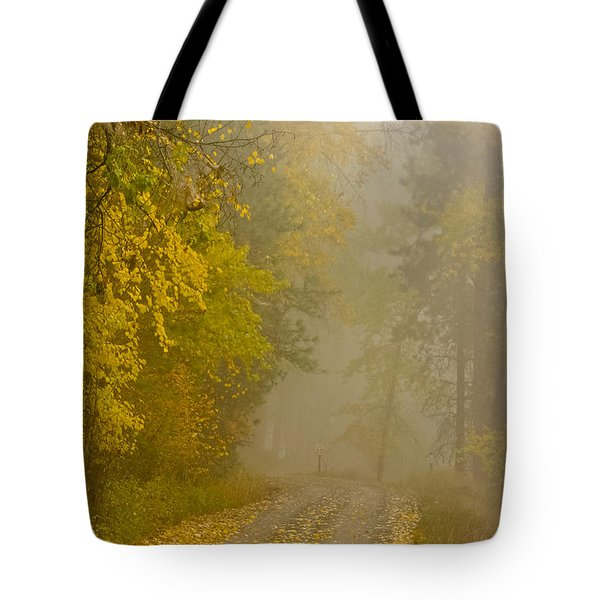 Foggy Autumn Morn Tote Bag by Albert Seger