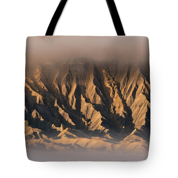 Foggy Butte Tote Bag