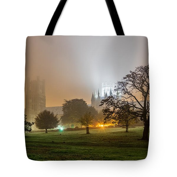 Foggy Cathedral Tote Bag