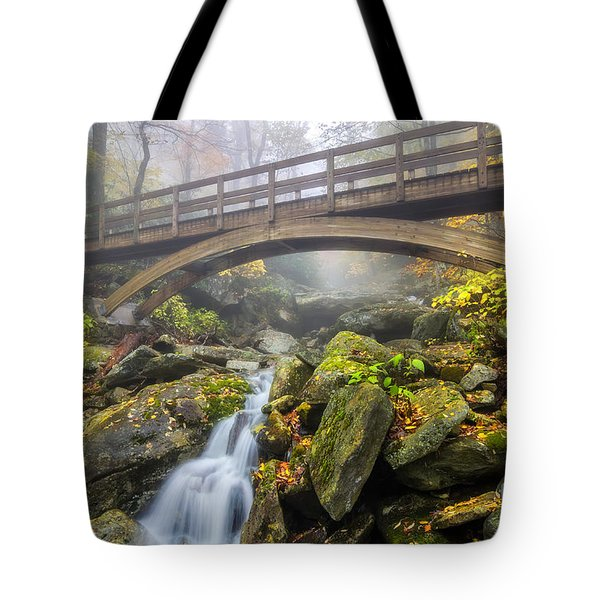 Foggy Crossing Tote Bag by Anthony Heflin