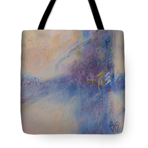 Foggy Crossroad Tote Bag