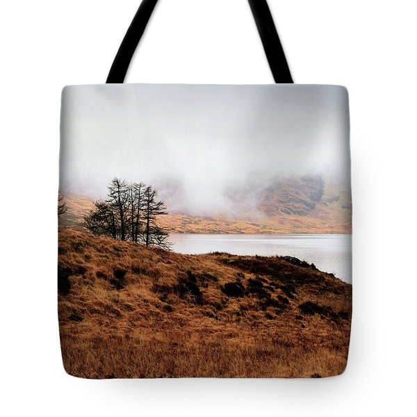 Foggy Day At Loch Arklet Tote Bag