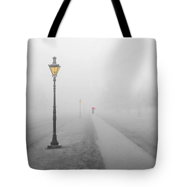 Foggy Day In France Tote Bag