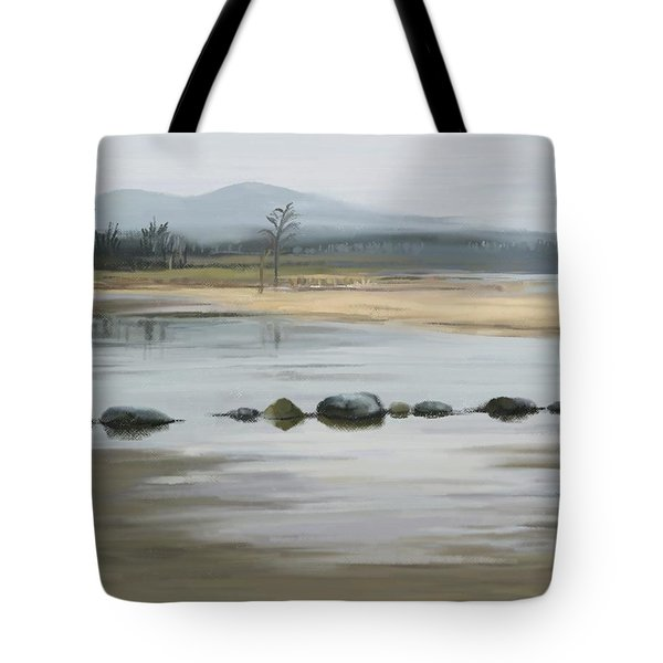 Tote Bag featuring the painting Foggy Day by Ivana