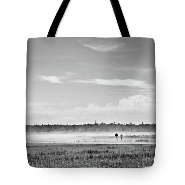 Foggy Day On A Marsh Tote Bag