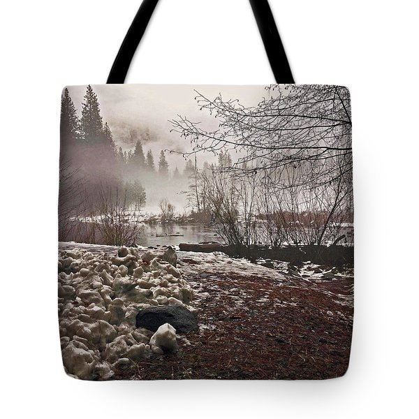 Tote Bag featuring the photograph Foggy Early Morning 2016 by Walter Fahmy