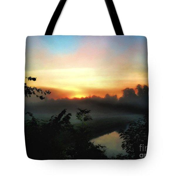 Foggy Edges Sunrise Tote Bag