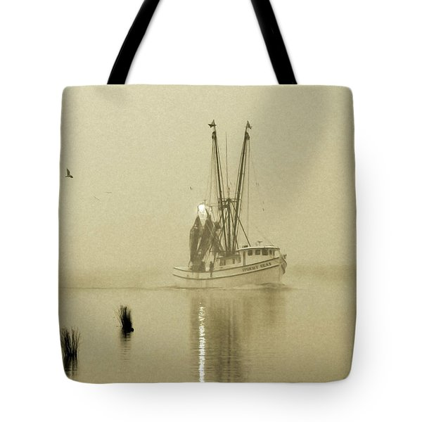 Foggy Evening Catch Tote Bag by Deborah Smith