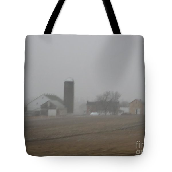 Foggy Evening Tote Bag