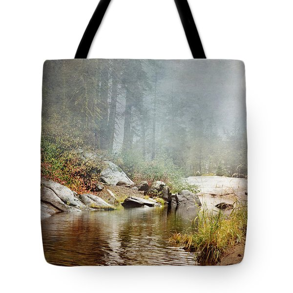Foggy Fishin Hole Tote Bag