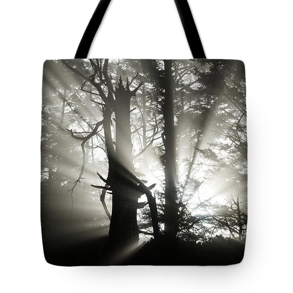 Foggy Flares Tote Bag