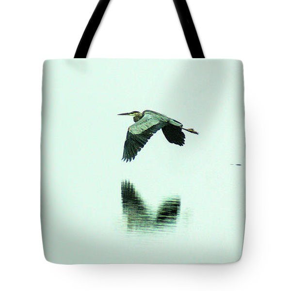 Foggy Flight, Low And Blind Tote Bag